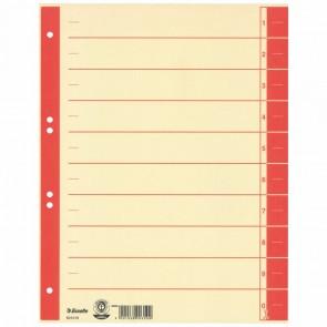ESSELTE Trennblätter 621019 A4 chamois Tab rot 230g 100 Stück