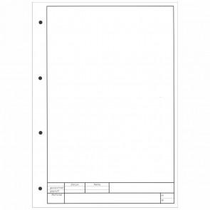 HAHNEMÜHLE TZ-Blätter A4 transparent mit Rahmen + Schrriftfeld 20 Blatt