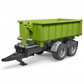 BRUDER 02035 Hakenlift Anhänger für Traktoren