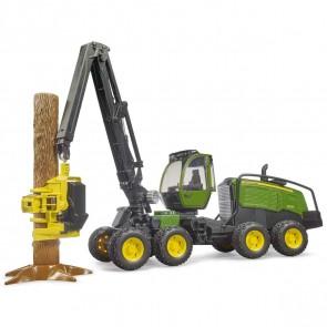 BRUDER 02135 John Deere 1270G Harvester mit 1 Baumstamm