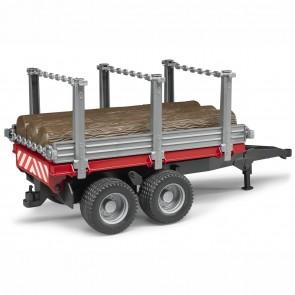 BRUDER 02213 Holzanhänger mit 3 Baumstämmen