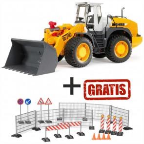 BRUDER 02430 Liebherr Radlader + GRATIS 62007 Baustellenset