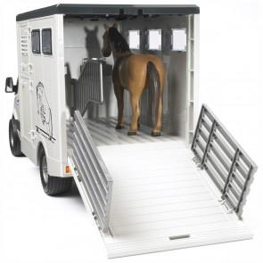 BRUDER 02533 Mercedes Benz Sprinter Tiertransporter inkl. 1 Pferd