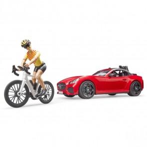 BRUDER 03485 Roadster mit 1 Rennrad