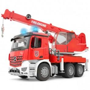 BRUDER 03675 MB Arocs Feuerwehr Kran mit Light & Sound Module