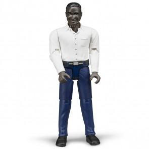 BRUDER 60004 Mann mit dunklem Hauttyp und dunkelblauer Hose