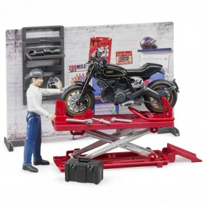 BRUDER 62101 Bworld Motorradwerkstatt