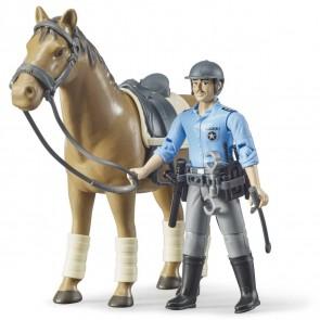 BRUDER 62507 bworld Berittene Polizei mi Pferd und Polizist