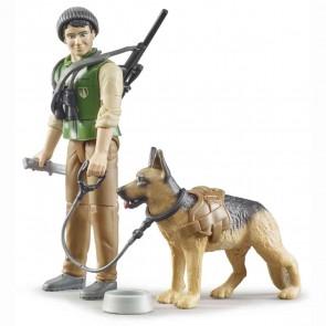 BRUDER 62660 bworld Förster mit Hund und Ausrüstung