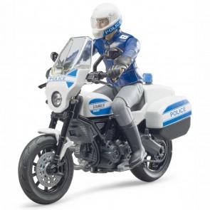 BRUDER 62731 bworld Scrambler Ducati Polizeimotorrad und Polizist