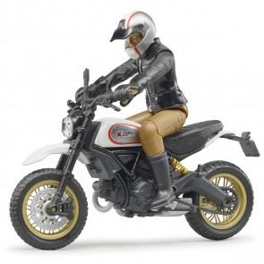 BRUDER 63051 Scambler Ducati Desert Sled mit Fahrer