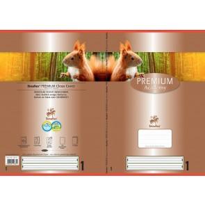 Schulheft  A4 16Bl 90g  Lin1 Premium liniert farb hinterl