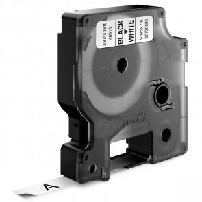 DYMO Schriftband D1 40913 9mm schwarz / weiß 10 Stück -SPARPACK-