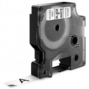 DYMO Schriftband D1 45013 12mm schwarz / weiß 10 Stück -SPARPACK-