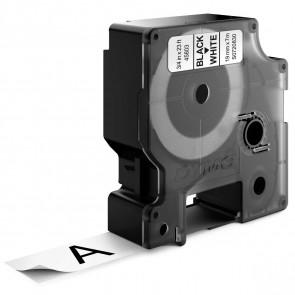 DYMO Schriftband D1 45803 19mm schwarz / weiß 10 Stück -SPARPACK-
