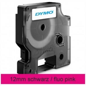 DYMO Schriftband D1 43125 12mm x 3m schwarz auf fluo pink