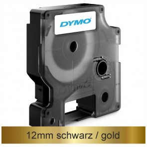 DYMO Schriftband D1 45023 12mm x 7m schwarz auf gold