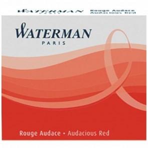 WATERMAN Tintenpatrone International (kurz) rot 6 Stück