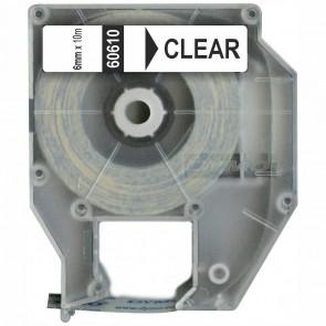 DYMO Schriftband / Etikettenband D2 60610 6mm x 10m transparent für 6000 9000 PC10