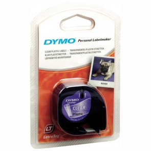 DYMO LetraTag Schriftband 16951 Kunststoff 12mmx4m transparent