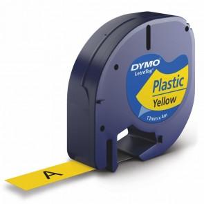DYMO LetraTag Schriftband 91222 12mm x 4m gelb Plastik