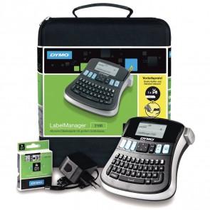 DYMO Beschriftungsgerät LabelManager 210D -SPARPACK- incl. Netzteil, D1 Band und Koffer