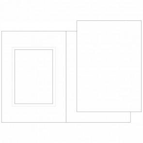 MARPA JANSEN Passpartoutkarten A6 25 Karten + Innenteil weiß