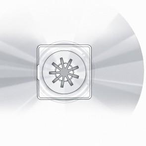VELOFLEX CD Halter Clip 2801000 Kunststoff selbstklebend 100 Stück weiß