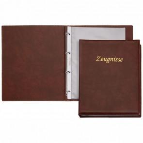 VELOFLEX Zeungnisringbuch / Zeugnismappe Exquisit A4 braun incl. 10 Hüllen