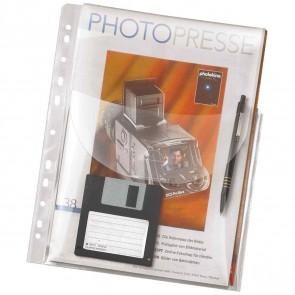VELOFLEX Jumbo Prospekthülle 4320 A4 mit Klappe oben bis 50 Blatt