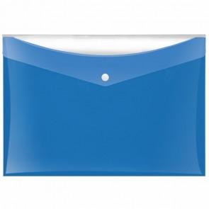 VELOFLEX Dokumententasche A4 mit Druckknopf und Tasche blau