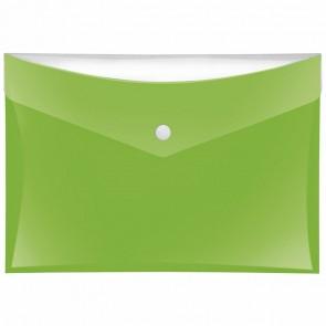 VELOFLEX Dokumententasche A5 mit Druckknopf und Tasche grün