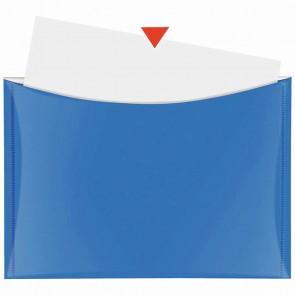 VELOFLEX Dokumententasche A5 mit Druckknopf und Tasche blau