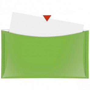 VELOFLEX Dokumententasche DL mit Druckknopf und Tasche grün