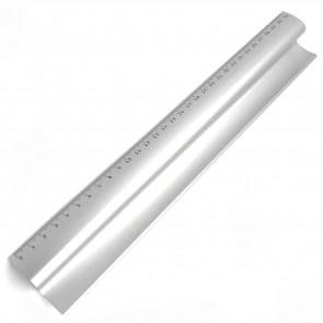 BRUNNEN Design Alu-Lineal 30cm mit Stiftablage -exklusive Ausführung-