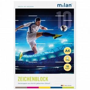 MILAN Zeichenblock 564/10 A4 10 Blatt 2seitig perforiert 100g