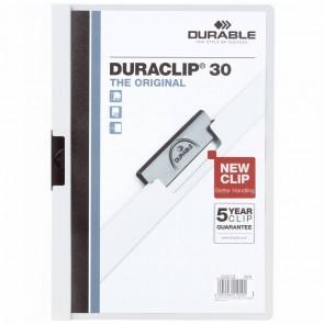 DURABLE Klemmappe DURACLIP A4 2200 bis 30 Blatt weiß