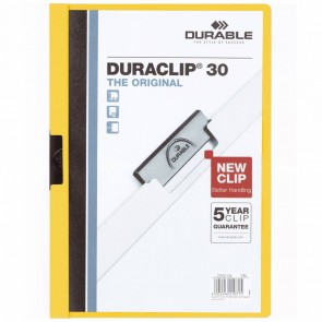 DURABLE Klemmappe DURACLIP A4 2200 bis 30 Blatt gelb