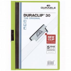 DURABLE Klemmappe DURACLIP A4 2200 bis 30 Blatt grün