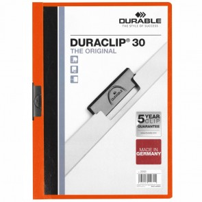 DURABLE Klemmappe DURACLIP A4 2200 bis 30 Blatt orange