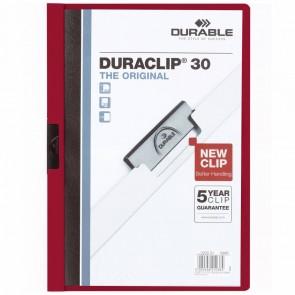 DURABLE Klemmappe DURACLIP A4 2200 bis 30 Blatt dunkelrot
