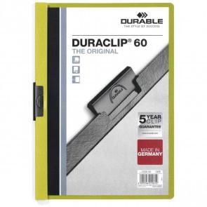 DURABLE Klemmappe DURACLIP A4 2209 für 60 Blatt grün