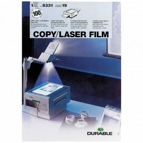 DURABLE Laser- und Kopierfolie 8331 transparent A4 100 Stück