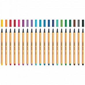 STABILO Fineliner point 88 20 Stück farbig sortiert 20 Farben 0,4mm