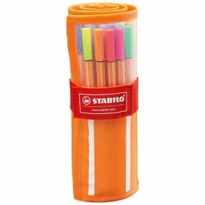 STABILO Tintenschreiber point 88 Rollerset 30 Farben