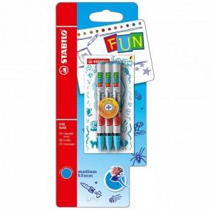 STABILO Tintenrollermine für FUN 0,5mm türkis 3 Stück
