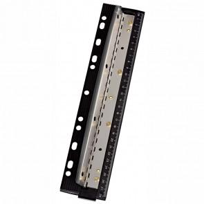 WEDO Taschenlocher / Doppel-Locher 4-Loch bis 3 Blatt mit Lineal schwarz