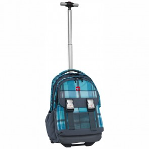 TAKE IT EASY Schulrucksack Trolley Madrid ATLANTIC blau / grau