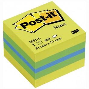 POST-IT Haftnotizwürfel Mini 2051-L Limone 51x51mm 400 Blatt