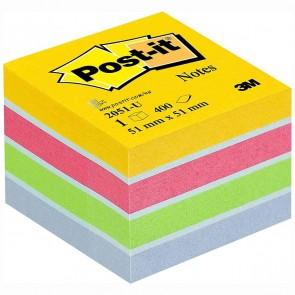 POST-IT Haftnotizwürfel Mini 2051-U Ultrafarben 51x51mm 400 Blatt